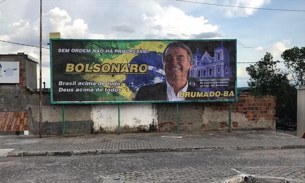Outdoor homenageia deputado Jair Bolsonaro em Brumado