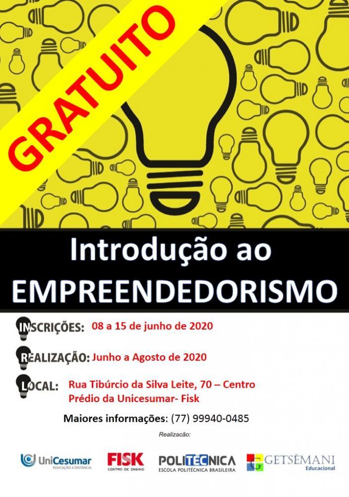 Brumado: Curso gratuito  de Introdução ao Empreendedorismo está com vagas abertas