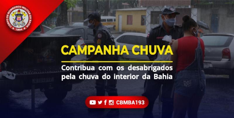 Quarteis dos bombeiros recebem donativos para as vítimas da chuva que atinge Rio de Contas, Vitória da Conquista e Irecê