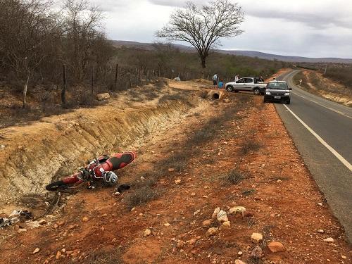 Maetinguense fica gravemente ferido após sofrer acidente de moto na BA-623