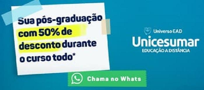 UniCesumar oferece Pós Graduação com 50% de desconto hoje (24) e amanhã (25); saiba mais