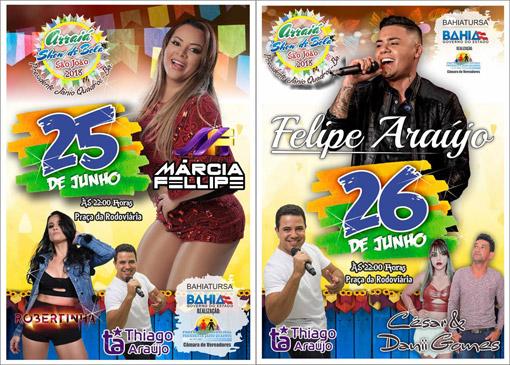 Arraiá Show de Bola em Presidente Jânio Quadros: Festejos continuam hoje (25), com Márcia Felipe e outras atrações