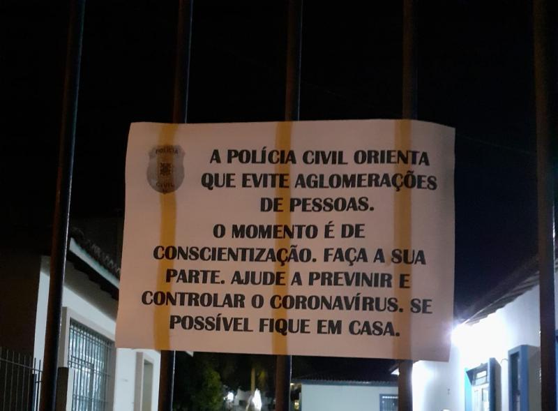 Coronavírus : Visita na  delegacia de Brumado é suspensa para evitar aglomeração
