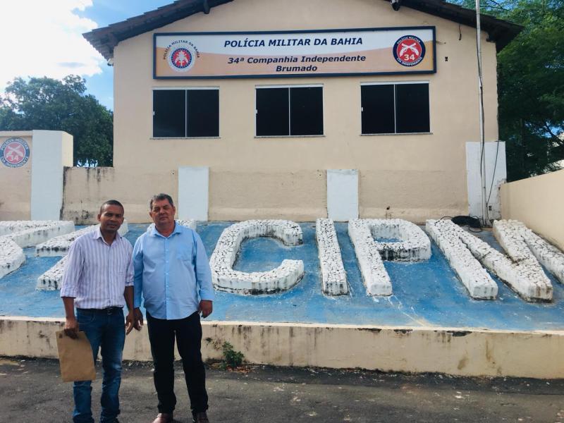 Rio do Antônio: Prefeito acerta detalhes para implantação de policiamento no Distrito de Ibitira
