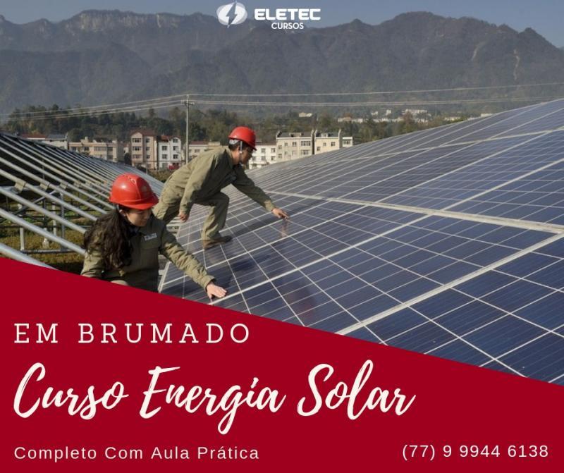 Curso de Energia Solar em Brumado começa quinta-feira