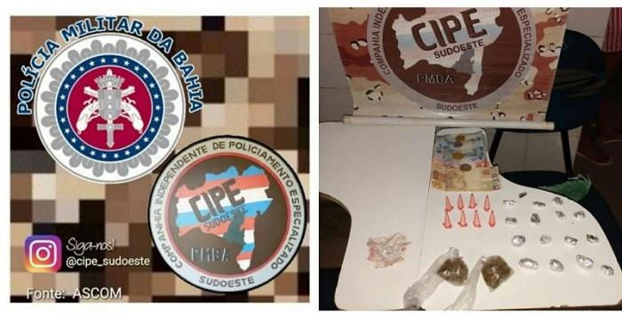 Grupo que vendia drogas em bar é preso em Palmas de Monte Alto; os envolvidos foram conduzidos a Delegacia de Guanambi