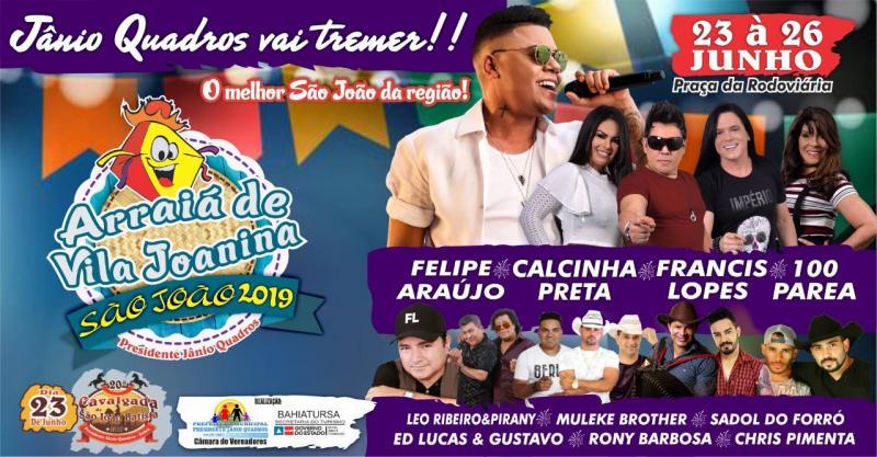 São João de Presidente Jânio Quadros acontece de 23 a 26 de deste mês, confira as atrações