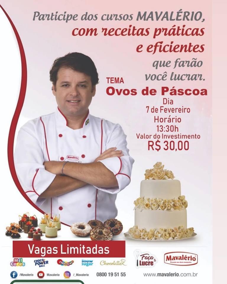Renomado Eduardo Beltrame realizará curso de Ovos de Páscoa na Bella Vista Embalagens de Brumado