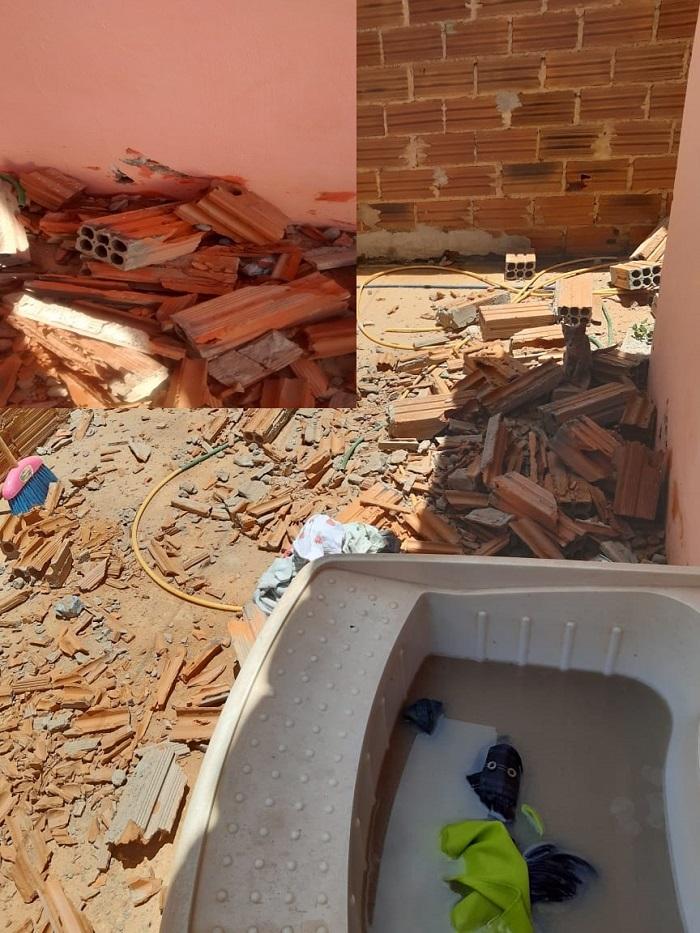 Livramento: Homem é detido por danificar residência do vizinho a pedradas no Bairro Benito Gama