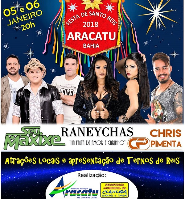Prefeitura de Aracatu realiza tradicional Festa de Santo Reis no Arraiá do Gererê