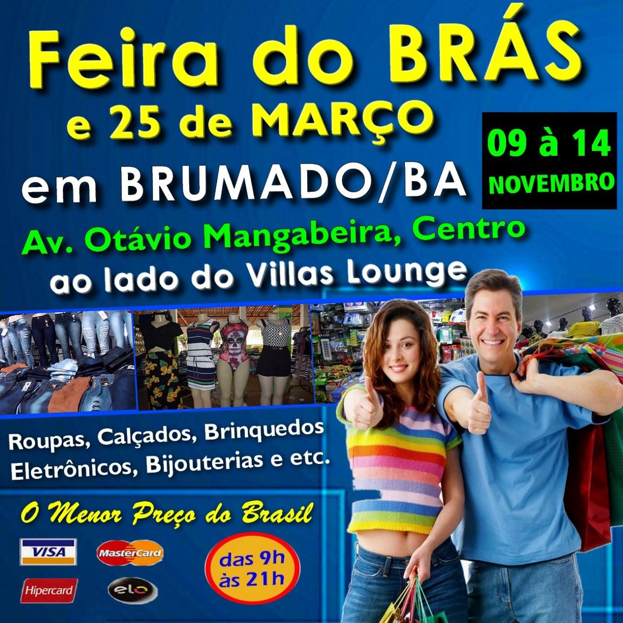 Economize de verdade: Faça suas compras na Feira do Brás e 25 de Março em Brumado