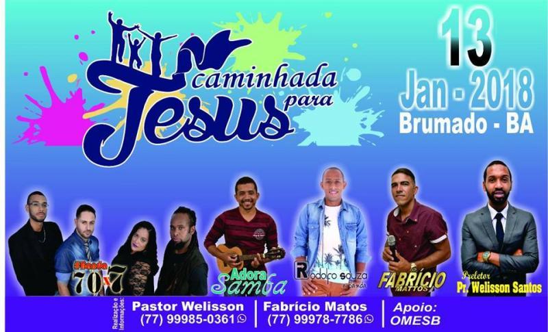 Caminhada Para Jesus em Brumado acontece dia 13