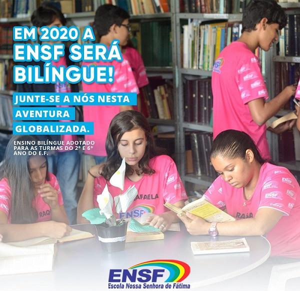 ENSF adota ensino bilíngue em 2020