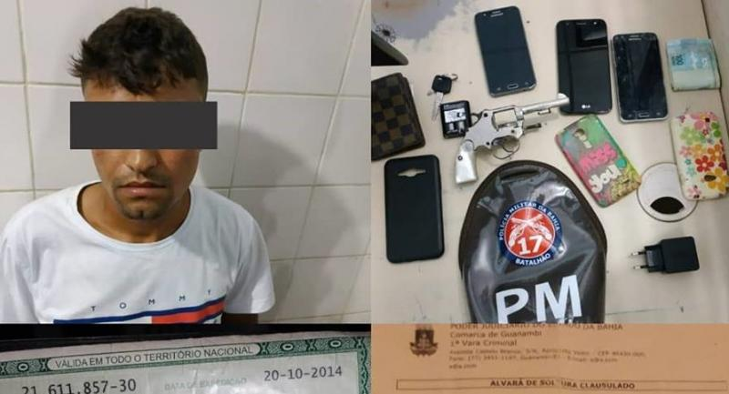 Polícia prende Candibense que praticava assaltos em Guanambi; um menor também foi apreendido