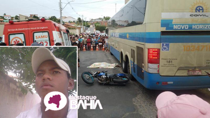 Acidente envolvendo ônibus da Novo Horizonte e Motocicleta deixa uma vítima fatal em Paramirim