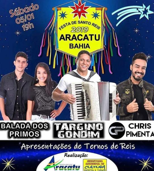 Festa de Santo Reis acontece neste sábado em Aracatu; haverá show, confira as atrações