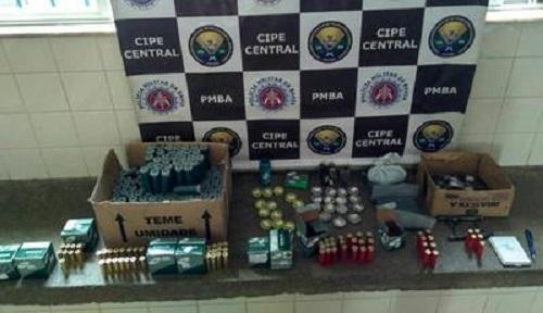Polícia desmonta comércio ilegal de munições em Ituaçu; homem e material apreendido foram conduzidos para Brumado