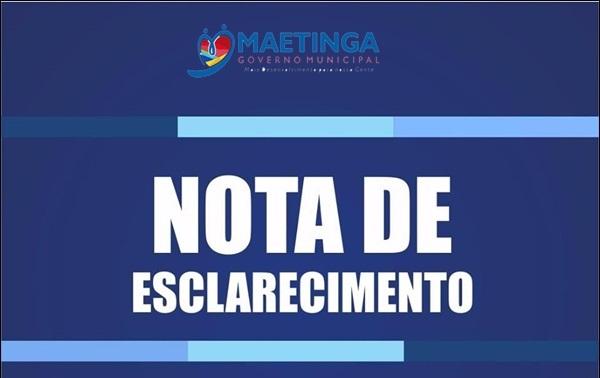 Nota de Esclarecimento: Prefeitura de Maetinga se pronuncia sobre efeitos da greve de caminhoneiros