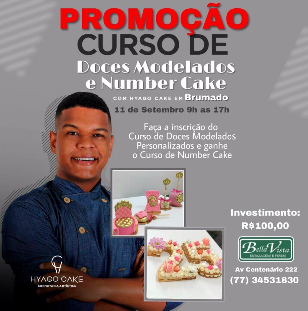 BELLA VISTA REALIZARÁ CURSOS DE BOLOS EM TENDÊNCIA E DOCES MODELADOS COM HYAGO CAKE