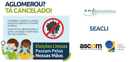 Eleições 2020: TRE-BA alerta candidatos com campanha de conscientização para a realização de eleições seguras