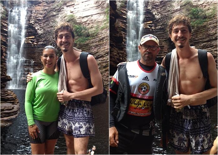 Chapada Diamantina: Ator da Globo, Johnny Massaro grava documentário na cachoeira do Buracão em Ibicoara