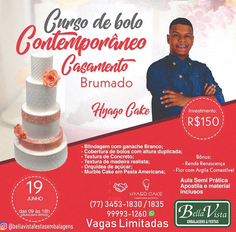 Brumado: A Bella Vista realizará Cuso de Bolo Contemporâneo para casamento; garanta já a sua vaga