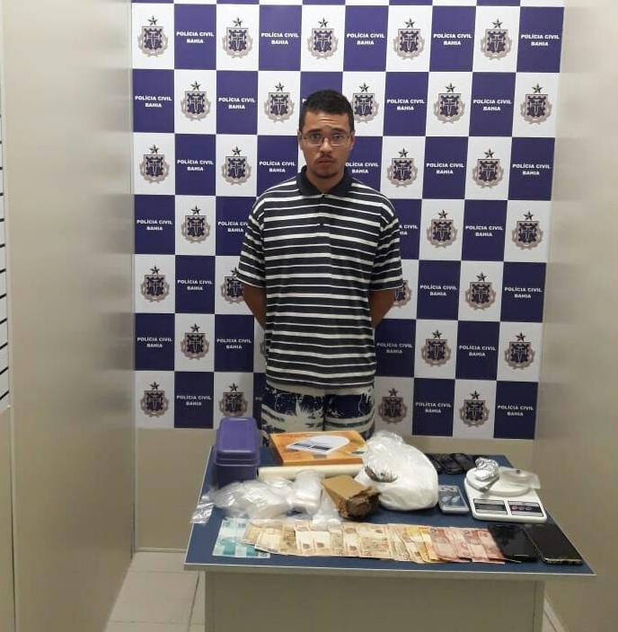 DTE de Conquista captura universitário que distribuía drogas em bairros nobres