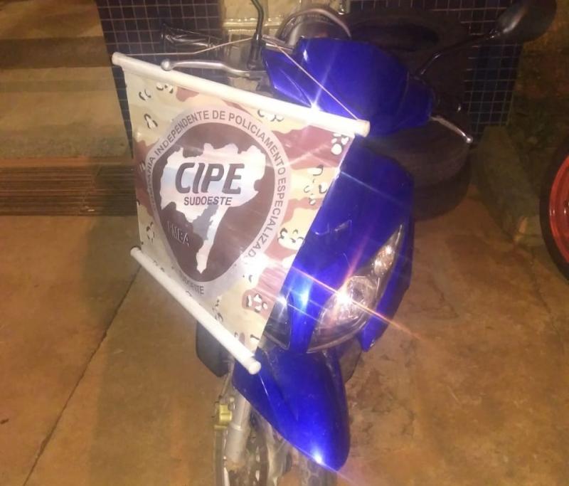 Cipe Sudoeste apreende moto com chassi adulterado em Paramirim