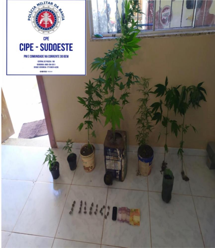 Barra da Estiva: Homem é detido após ser flagrado com drogas na zona rural