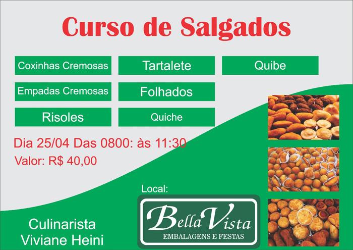 A Bella Vista promoverá cursos de salgados e doces em Brumado; confira