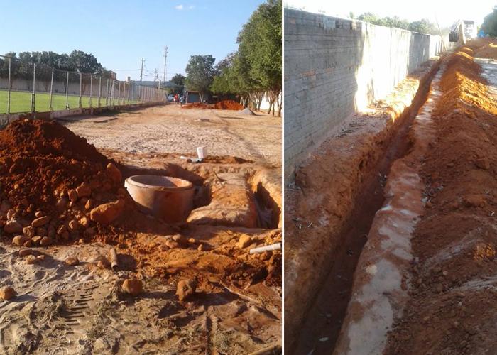 Obras de Iluminação do Estádio Minhocão em Malhada de Pedras começam a ser executadas