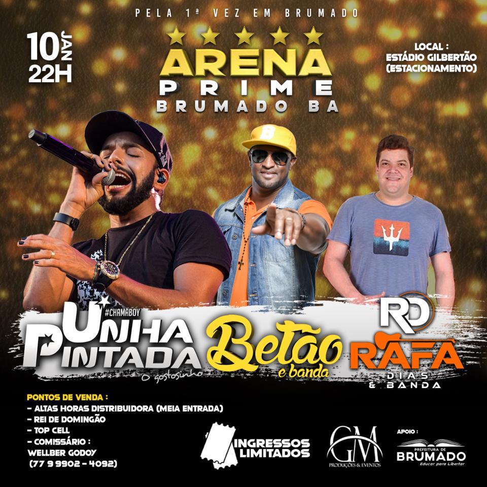 Brumado: Arena Prime acontece nesta sexta-feira (10), no Estádio Gilbertão