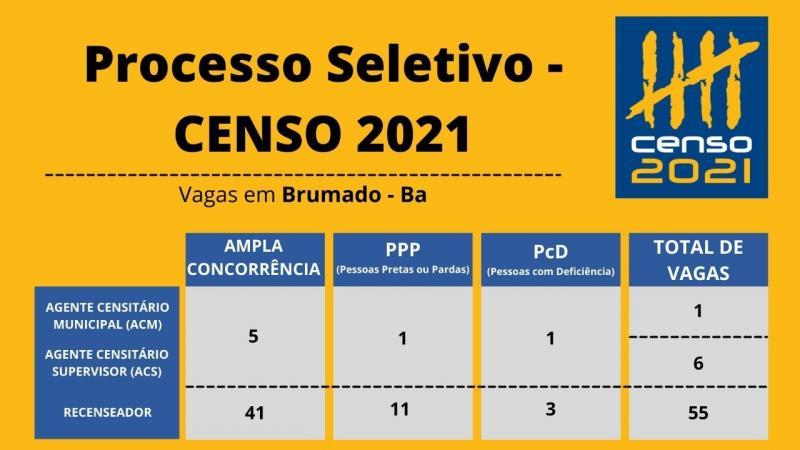 Brumado: Processos Seletivos Simplificados do IBGE tem vagas o município