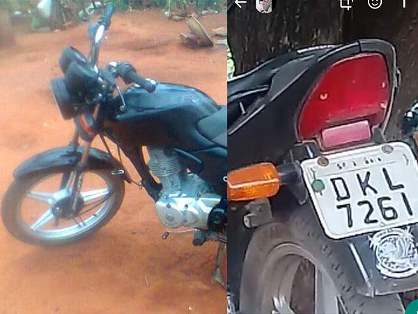Moto é furtada em Maetinga em frente aos banheiros público; local tem sido tornado alvo de ladrões
