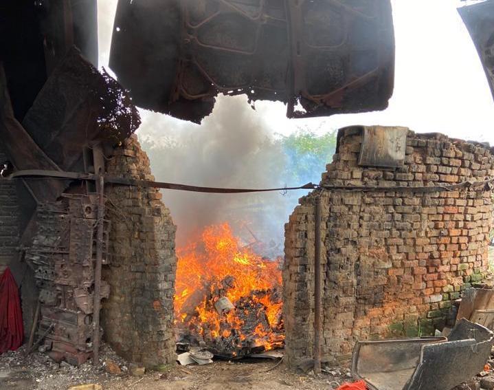 Polícia incinera quatro toneladas de drogas em Jequié