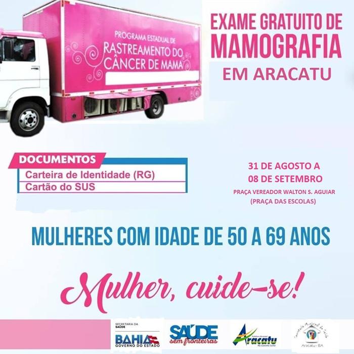 Aracatu receberá programa de Rastreamento do Câncer de Mama