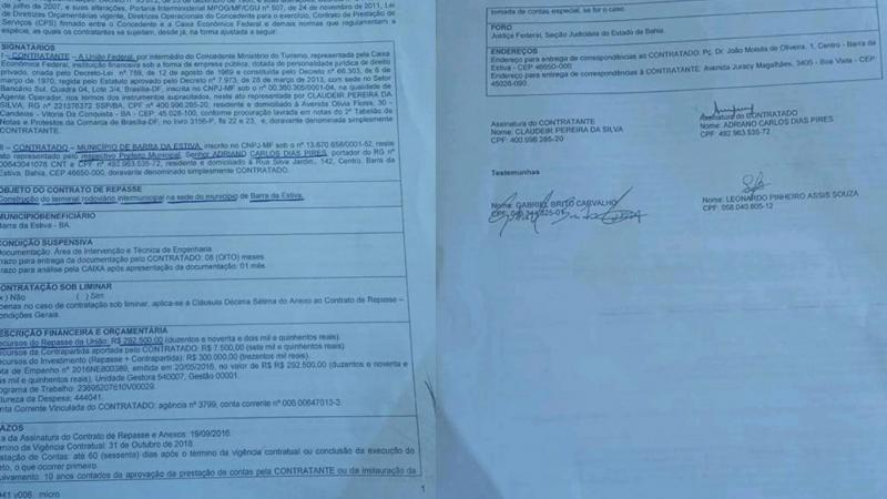 Barra da Estiva: 'PATERNIDADE' DE TERMINAL RODOVIÁRIO GERA POLÊMICA; PREFEITO ESCLARECE