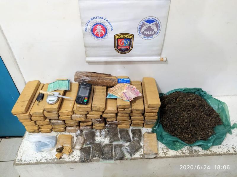 Rondesp Sudoeste e Polícia Rodoviária Federal apreendem 60 kg  de entorpecente em Vitória da Conquista