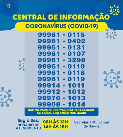 Brumado: Central de Informação Covid-19 está com novos horários de atendimento