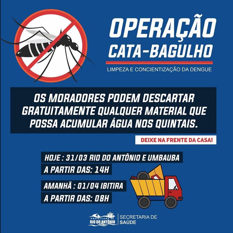 Além das ações contra o Coronavírus, prefeitura de Rio do Antônio também dedica esforços contra a dengue