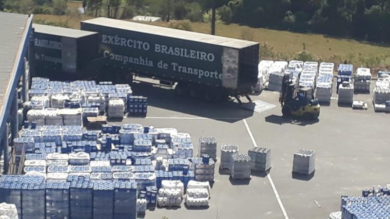 Comandos Conjuntos Bahia e Sudeste entregam 50 toneladas de álcool 70° ao Cimatec Park