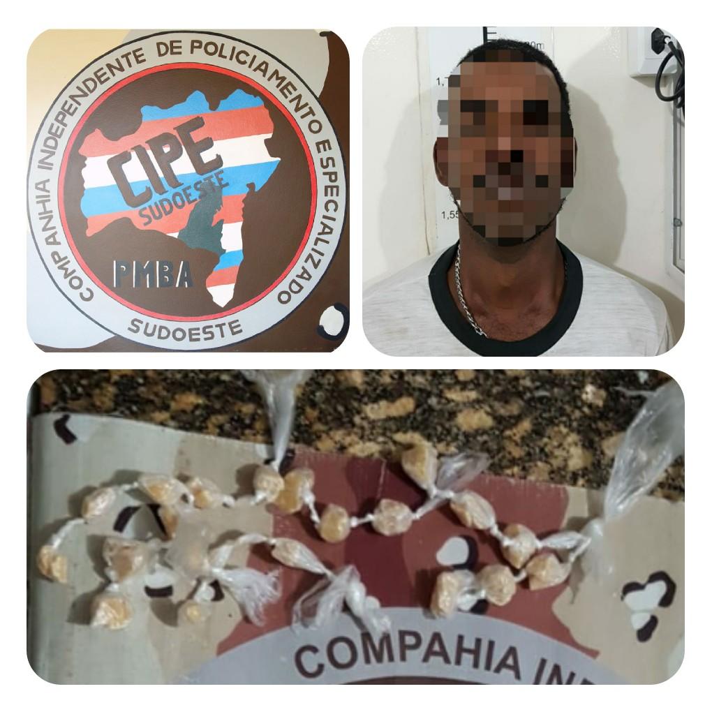 Homem é preso por tráfico de drogas em Vitória da Conquista
