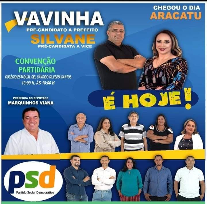 Aracatu: PSD realiza convenção municipal nesta quarta (16)