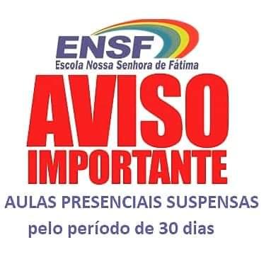 Ensf acata decreto do governo do Estado e da prefeitura de Brumado e suspende as aulas por 30 dias
