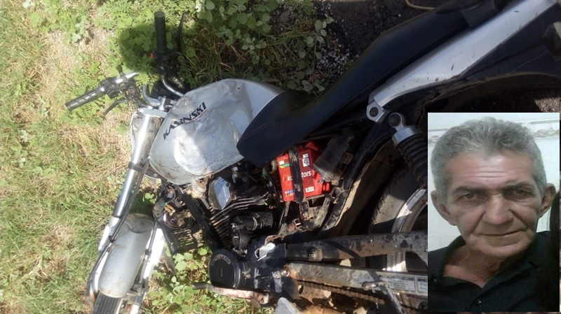 Idoso morre em grave acidente na BA-148 em Brumado; vítima estava sem capacete
