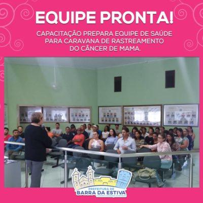 Barra da Estiva: Equipe de saúde se prepara para atendimentos na Caravana do Rastreamento do Câncer de Mama