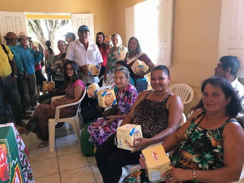 Prefeita Lêda Matias participa de assembleia e confraternização do Sindicato dos Trabalhadores Rurais de Aracatu