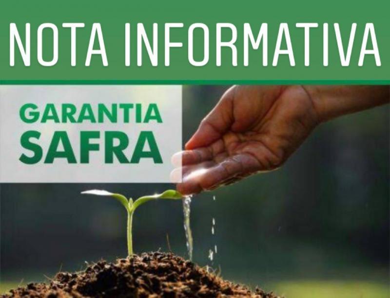 Garantia Safra: Prefeitura Municipal de Brumado emite Nota Informativa