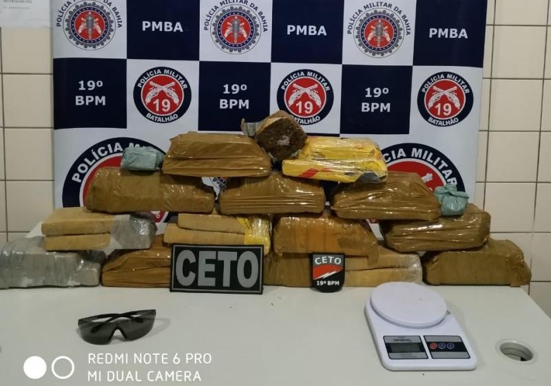 Região Sudoeste: Polícia apreende 14 quilos de maconha em Jequié
