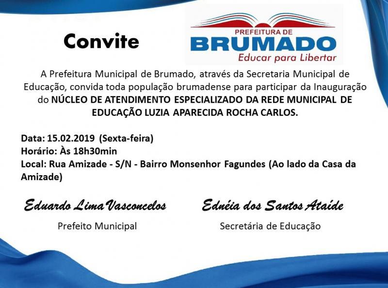 Prefeitura de Brumado convida população para inauguração de Núcleo Especializado